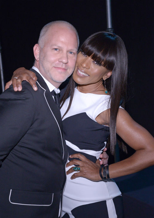 Angela Bassett and Ryan Murphy, co-creator and executive producer of the FX series &#39;American Horror Story: Coven,&#39; appear together at a PaleyFest event celebrating the show, presented by the Paley Center for Media, at the Dolby Theatre in Hollywood, California on March 28, 2014. She is wearing a black and white La Petite Robe by Chiara Boni cocktail dress. <span class=meta>(Rob Latour for Paley Center for Media)</span>