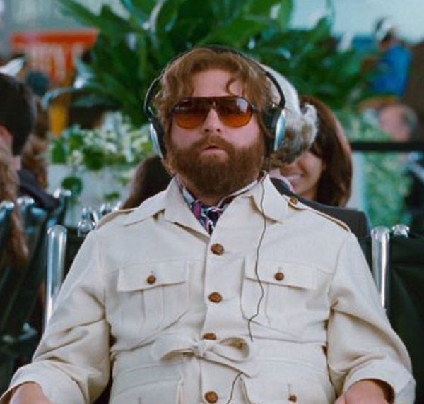 Zach Galifianakis appears in a scene from the 2011 film 'The Hangover Part II.'