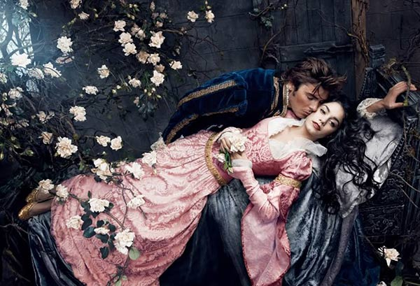 Zac Efron plays Prince Phillip and Vanessa Hudgens plays Sleeping Beauty -- the Princess Aurora -- in Annie Leibowitz&#39;s Disney Dream Dream Portraits series. <span class=meta>(Disney Enterprises Inc. &#47; Annie Leibowitz)</span>