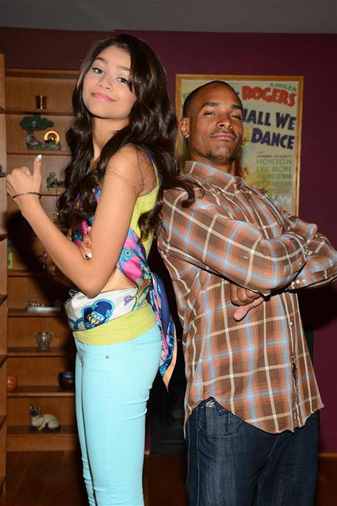 "<div class=""meta ""><span class=""caption-text "">Zendaya (Disney Channel's 'Shake It Up!') appears with her brother Ajayi Jackson in Los Angeles on June 11, 2012. (Albert Michael / Startraksphoto.com)</span></div>"