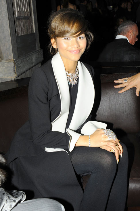 Zendaya of the Disney Channel series &#39;Shake It Up!&#39; appears at &#39;Dancing With The Stars&#39; alum Maksim Chermovskiy&#39;s and Robert Kheit&#39;s Cantamessa Men jewelry collection launch party at Tao Downtown Lounge in New York on Feb. 10, 2014. She is wearing Cantamessa jewelry. <span class=meta>(Paul Bruinooge &#47; PatrickMcMullan.com)</span>