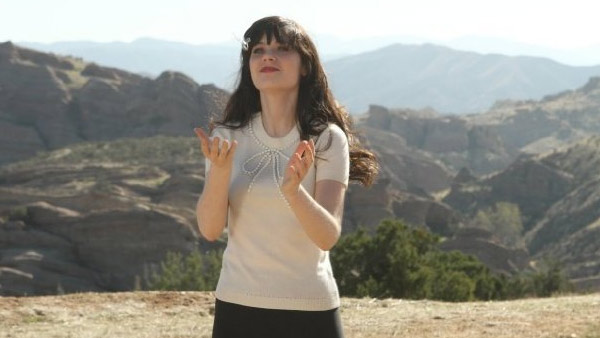 (Pictured: Zooey Deschanel appears in a scene...