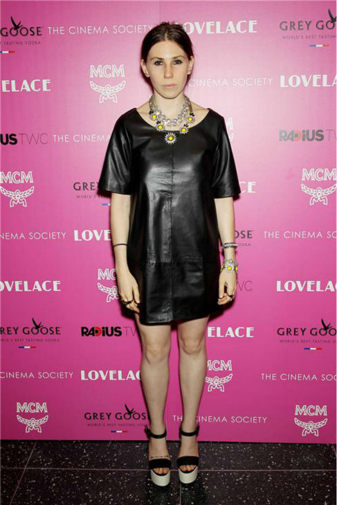 'Girls' star Zosia Mamet attends a screening of 'Lovelace,' hosted by the Cinema Society and MCM with Grey Goose, at the Metropolitan Museum of Art (MoMa) in New York on July 30, 2013.
