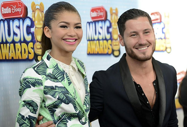 Zendaya, a Disney Channel star, and Val Chmerkovskiy, her &#39;Dancing With The Stars&#39; season 16 partner, attend the 2013 Radio Disney Music Awards at the Nokia Theatre L.A. Live on April 27, 2013. The event will air on the Disney Channel and on Radio Disney on May 4. <span class=meta>(Disney Channel &#47; Richard Harbaugh)</span>