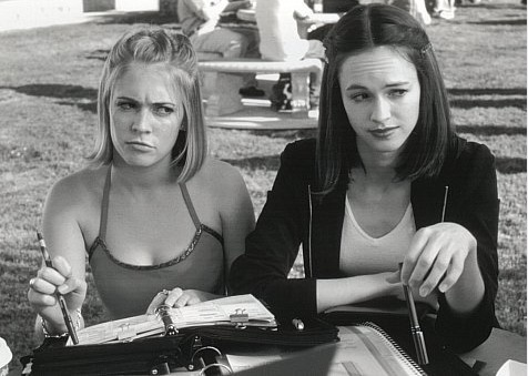 Susan May Pratt (right) in a scene from 'Drive Me Crazy.'