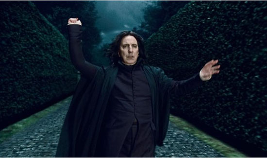 Alan Rickman turns 67 on Feb. 21, 2013. The actor is known for his role as Severus Snape in the &#39;Harry Potter&#39; movies and movies such as &#39;Die Hard,&#39; &#39;Galaxy Quest,&#39; &#39;Robin Hood: Prince of Thieves,&#39; and &#39;Sweeney Todd: The Demon Barber of Fleet Street.&#39;  &#40;Pictured: Alan Rickman in a scene from &#39;Harry Potter and the Deathly Hallows - Part 1&#39;&#41; <span class=meta>(Warner Bros. Entertainment Inc.)</span>