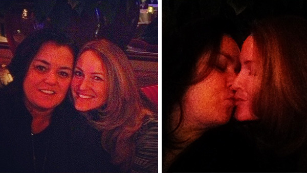 Rosie O'Donnell shared these Instagram photos of her and her new wife Michelle on Dec. 24, 2012, Tweeting: 'Love.'