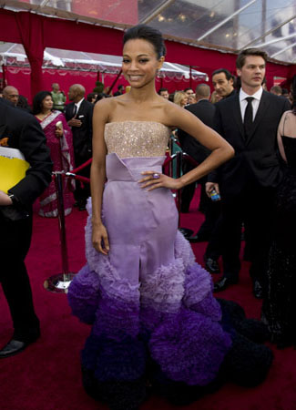Zoe Saldana on the red carpet, 2010.