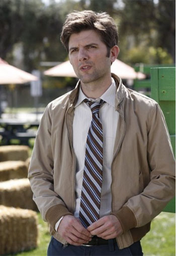 Adam Scott turns 39 on April 3, 2012. The actor is known for shows such as &#39;Parks and Recreation,&#39; and movies such as &#39;Step Brothers,&#39; &#39;The Aviator,&#39; &#39;Knocked Up,&#39; and &#39;Leap Year.&#39;  <span class=meta>(NBC Universal, Inc. &#40;Byron Cohen&#41;&#47;Deedle-Dee Productions&#47;Universal Media Studios)</span>
