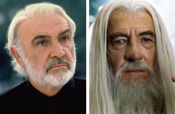 Sean Connery (left) is pictured in a scene from 'Finding Forrester.'  Sir Ian McKellan (right) is pictured in a scene from 'Lord of the Rings.'