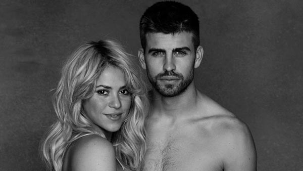 Shakira appears with boyfriend Gerard Pique in a photo posted on her official Facebook page on January 16, 2013.