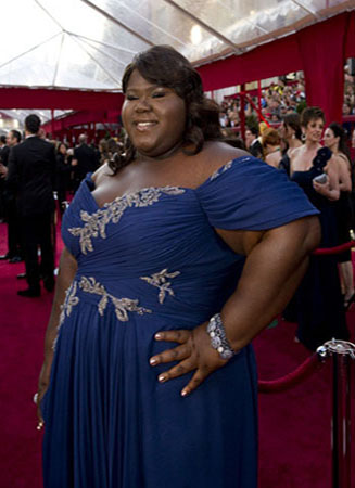 Gabourey Sidibe on the red carpet, 2010.