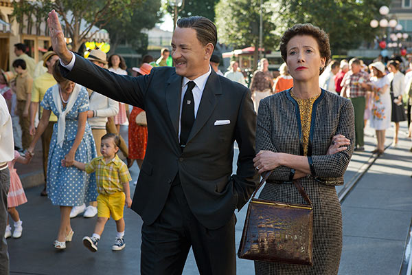 Tom Hanks and Emma Thompson appear in a scene from Disneys Saving Mr. Banks. The movie is set for release on Dec. 13, 2013. Hanks plays Walt Disney and Thompson portrays P.L. Travers, author of Mary Poppins. - Provided courtesy of Walt Disney Pictures