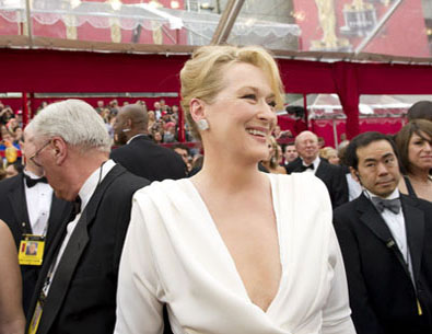 "<div class=""meta ""><span class=""caption-text "">Meryl Streep, Academy Award nominee for Best Actress for her performance in 'Julie and Julia,' arrives at the 82nd Annual Academy Awards at the Kodak Theatre in Hollywood, CA, on Sunday, March 7, 2010. (Richard Harbaugh / ©A.M.P.A.S.)</span></div>"