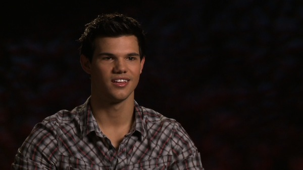 Taylor Lautner talks about the film 'The Twilight Saga: Breaking Dawn' in this video interview provided by studio Summit Entertainment in October 2011.