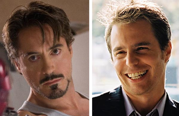 Robert Downey Jr. (left) appears in a scene from 'Iron Man.'  Sam Rockwell (right) in a scene from 'Matchstick Men.'