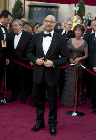 Stanley Tucci on the red carpet, 2010.
