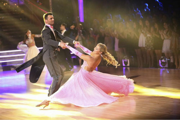 Pro dancers Tony Dovolani &#40;who is competing with NeNe Leakes&#41; and Emma Slater &#40;whose partner Billy Dee Williams of &#39;Star Wars&#39; recently exited the competition&#41; dance on week 5 of &#39;Dancing With The Stars&#39; season 18 -- Disney Night -- on April 14, 2014. <span class=meta>(ABC Photo &#47; Adam Taylor)</span>