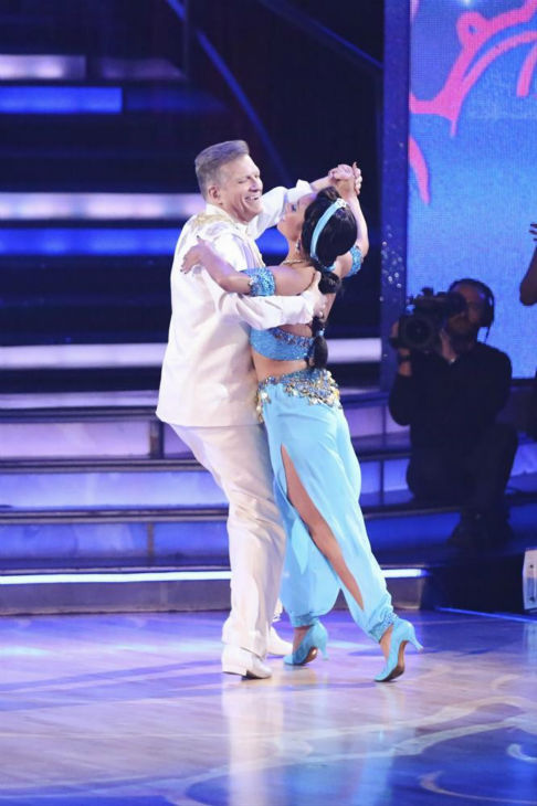 "<div class=""meta ""><span class=""caption-text "">Drew Carey and Cheryl Burke perform an 'Aladdin'-themed Quickstep on week 5 of 'Dancing With The Stars' season 18 -- Disney Night -- on April 14, 2014. They received 28 out of 40 points from the judges for their dance. (ABC Photo / Adam Taylor)</span></div>"