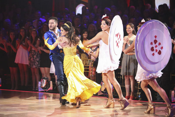 Danica McKellar and Valentin Chmerkovskiy dance a &#39;Beauty and the Beast&#39;-themed Quick Step on week 5 of &#39;Dancing With The Stars&#39; season 18 -- Disney Night -- on April 14, 2014. They received 39 out of 40 points from the judges. <span class=meta>(ABC Photo &#47; Adam Taylor)</span>