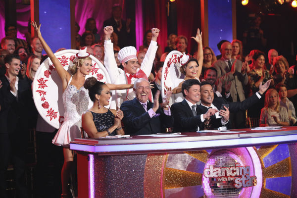 &#39;Dancing With The Stars&#39; judges Carrie Ann Inaba, Len Goodman and Bruno Tonioli and guest judge Donny Osmond, winner of season 9, appear on week 5 of season 18 -- Disney Night -- on April 14, 2014. <span class=meta>(ABC Photo &#47; Adam Taylor)</span>