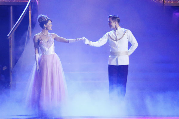 Amy Purdy and Derek Hough perform a &#39;Cinderella&#39;-themed Waltz on week 5 of &#39;Dancing With The Stars&#39; season 18 -- Disney Night -- on April 14, 2014. They received 37 out of 40 points from the judges for their dance. <span class=meta>(ABC Photo &#47; Adam Taylor)</span>