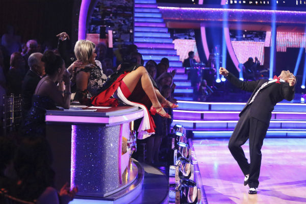 "<div class=""meta ""><span class=""caption-text "">NeNe Leakes and Tony Dovolani perform a 101 Dalmations' Cruella de Vil'-themed Fox Trot on week 5 of 'Dancing With The Stars' season 18 -- Disney Night -- on April 14, 2014. They received 36 out of 40 points from the judges for their dance. (ABC Photo / Adam Taylor)</span></div>"