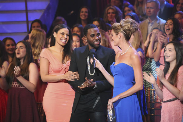 Jordin Sparks and Jason Derulo talk to co-host Erin Andrews on week 5 of &#39;Dancing With The Stars&#39; season 18 -- Disney Night -- on April 14, 2014. <span class=meta>(ABC Photo &#47; Adam Taylor)</span>