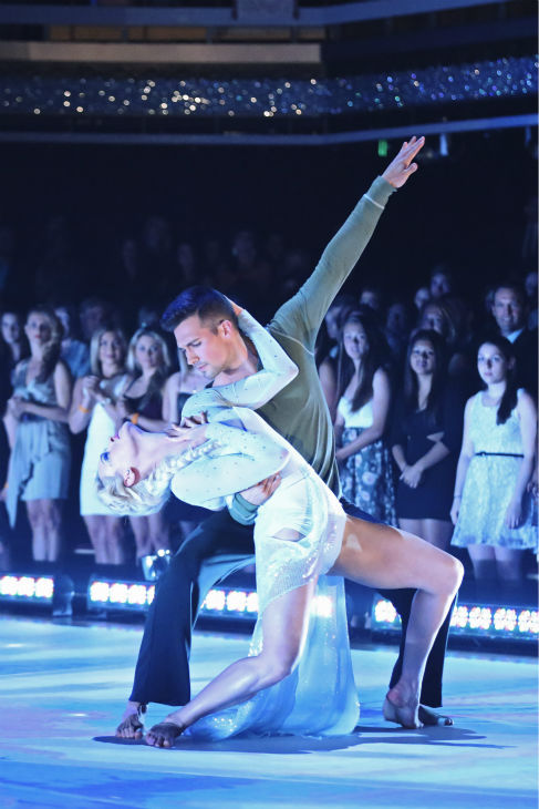 James Maslow and Peta Murgatroyd perform a &#39;Frozen&#39;-themed Contemporary routine on week 5 of &#39;Dancing With The Stars&#39; on April 14, 2014. They received 40 out of 40 points from the judges for their dance. <span class=meta>(ABC Photo &#47; Adam Taylor)</span>