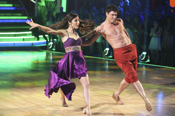 Meryl Davis and Maksim Chmerkovskiy perform a &#39;Jungle Book&#39;-themed Samba on week 5 of &#39;Dancing With The Stars&#39; on April 14, 2014. They received 36 out of 40 points from the judges for their dance. <span class=meta>(ABC Photo &#47; Adam Taylor)</span>