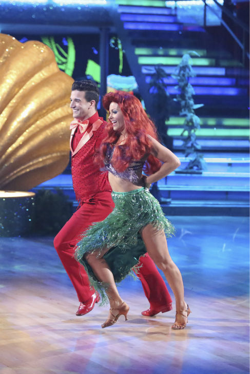 "<div class=""meta image-caption""><div class=""origin-logo origin-image ""><span></span></div><span class=""caption-text"">Candace Cameron Bure and Mark Ballas dance a 'Little Mermaid'-themed Samba on week 5 of 'Dancing With The Stars' season 18 -- Disney Night -- on April 14, 2014. They received 35 out of 40 points from the judges for their dance. (ABC Photo / Adam Taylor)</span></div>"