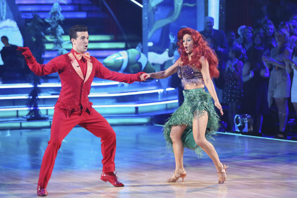 Candace Cameron Bure and Mark Ballas dance a &#39;Little Mermaid&#39;-themed Samba on week 5 of &#39;Dancing With The Stars&#39; season 18 -- Disney Night -- on April 14, 2014. They received 35 out of 40 points from the judges for their dance. <span class=meta>(ABC Photo &#47; Adam Taylor)</span>