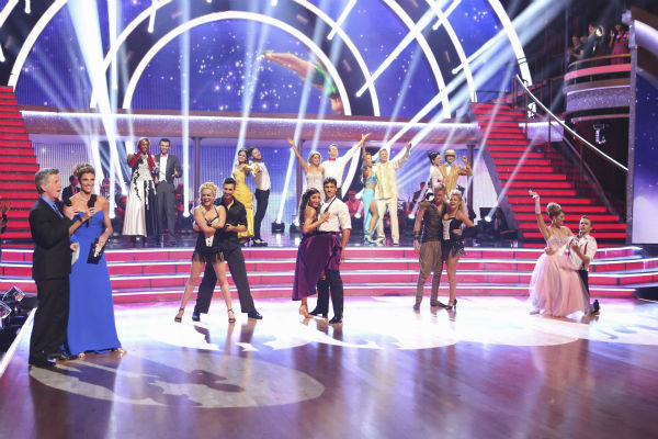 "<div class=""meta ""><span class=""caption-text "">The remaining nine celebrities and their pro dance partners appear on week 5 of 'Dancing With The Stars' season 18 -- Disney Night -- on April 14, 2014. (ABC Photo / Adam Taylor)</span></div>"