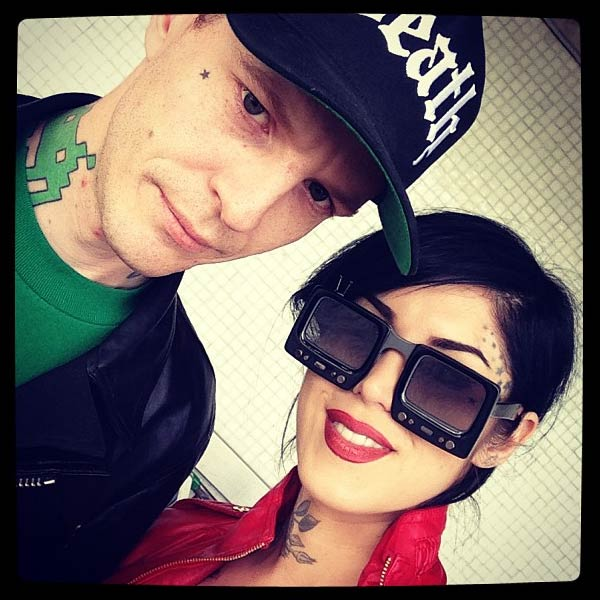 Kat Von D appears in an April 2013 photo alongside Deadmau5 from her official Instagram account.