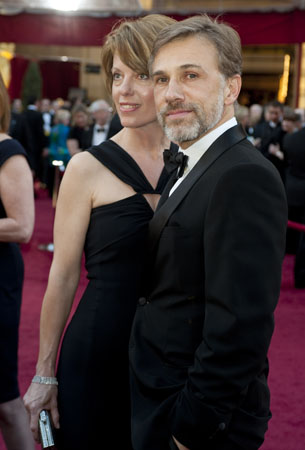 Christoph Waltz and Judith Holste on the red carpet, 2010.