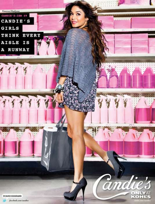 Vanessa Hudgens appears in a promotional photo taken for the a new ad campaign for Candie&#39;s apparel, available at Kohl&#39;s stores, that was unveiled in June 2011. <span class=meta>(Candie&#39;s &#47; facebook.com&#47;Candies &#47; candies.com &#47; Iconix Brand Group)</span>