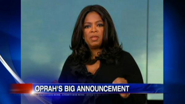Celebs react to Oprah's talk show ending