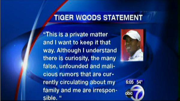 Tiger remaining silent on crash details
