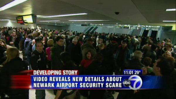 Surveillance released of Newark Airport breach