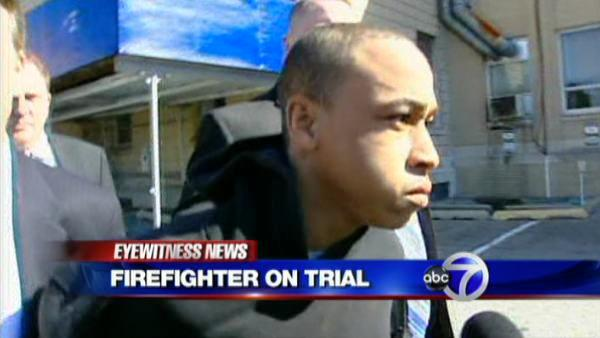 Firefighter on trial after deadly arson