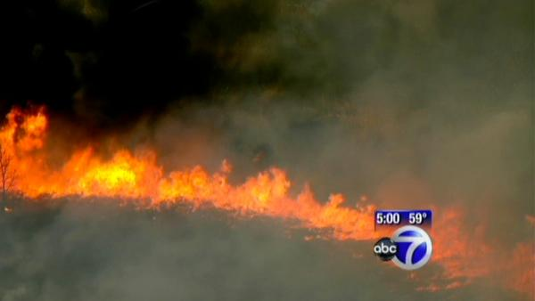Brush fire on Staten Island