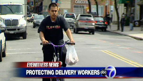 Protecting delivery men