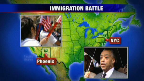 Rev. Sharpton calls for action against immigration law