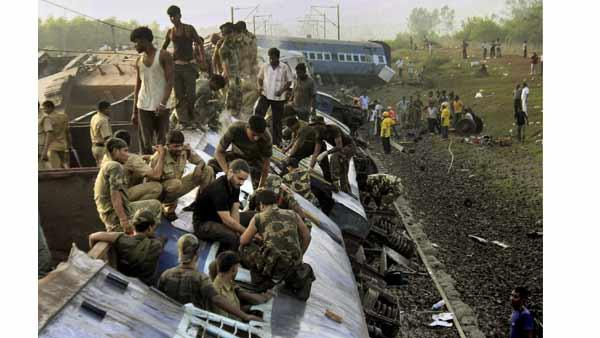 India train blast, derailment