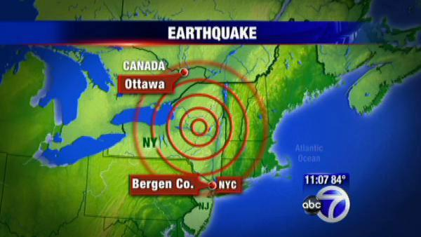Earthquake in Canada felt in several U.S. states