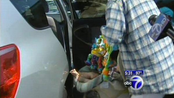 The danger of leaving kids in cars on hot days
