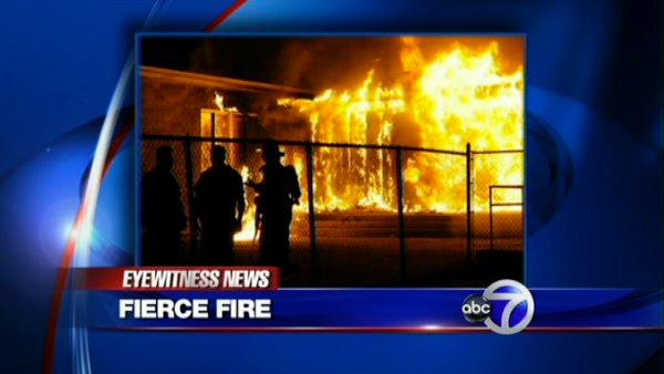 Arson fire at LI elementary school