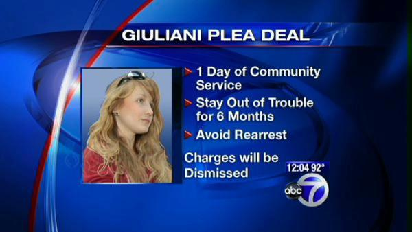 Caroline Giuliani agrees to plea deal on shoplifting charge