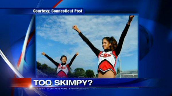 Cheerleaders refuse to wear 'skimpy' uniforms
