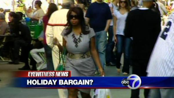 Shopping for bargains on Columbus Day